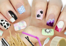 10 nail art designs using household items