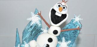 frozen olaf topper, frozen olaf with fondant